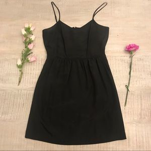 J. Crew Black Cami Dress Size 6